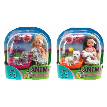 Simba Panenka Evička s domácími mazlíčky, 2 druhy