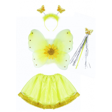 Rappa Dětský kostým Slunečnice s křídly