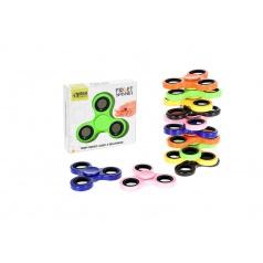 Hand Fidget Spinner 7cm v krabičce, 6 druhů, antistresová hračka s kovovými ložisky