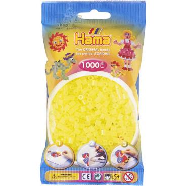 HAMA neonové žluté korálky v sáčku