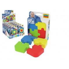 Millaminis Moje první puzzle pěna 10x10cm v krabičce 26ks v boxu 0+(lze mixovat s vkládačkami)