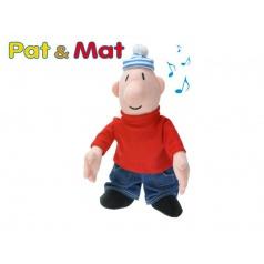 Mikro Trading Postavička Mat plyšová 33cm na baterie se zvukem 0m+ v sáčku Pat a Mat