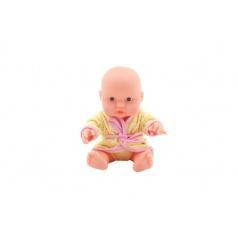Teddies Miminko panenka měkké tělo v župánku plast 25cm 2 barvy