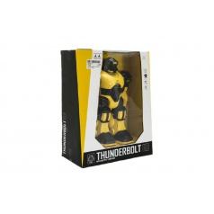 Teddies Robot bojovník chodící plast 23cm na baterie se zvukem se světlem v krabici 24x30x12cm