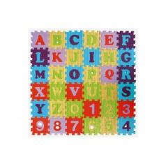 SMT Creatoys Penové puzzle abeceda a čísla asst mix farieb 36ks 15x15x1cm
