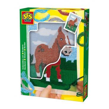 SES Vyšívání dečky - kůň