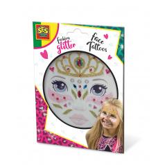 SES Třpytkové tetování na obličej - princezna