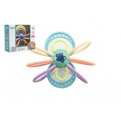 Teddies Hrkálka / hryzátko motýľ plast s krúžkami asst 3 farby v krabičke 17x15x7cm 10m+