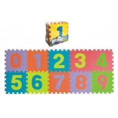 Teddies Pěnové puzzle čísla 0-9 podložka 25x25x1cm 10ks v sáčku