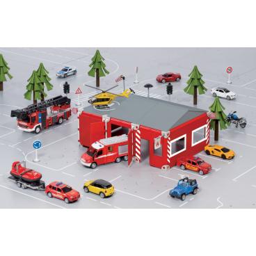 SIKU World - Set požární stanice 16 dílů