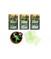 Teddies Puzzle 3D plast Svět dinosaurů svítící ve tmě 3 druhy na kartě 15x25,5x0,5cm