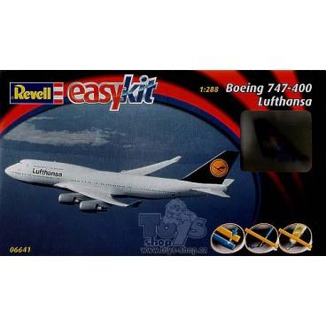 Revell 06641 EasyKit letadlo - Boening 747 Lufthansa (1:288)