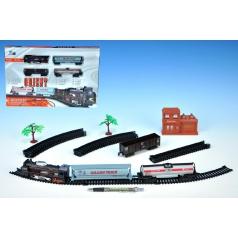 Orient Vlak + 3 vagóny délka dráhy 280cm na baterie se světlem v krabici