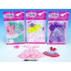 Šaty/Oblečky na panenky asst na kartě 21x30cm