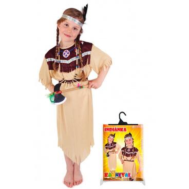 dětský karnevalový kostým indiánka velikost M