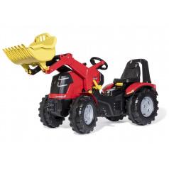 ROLLYTOYS 651009 Šlapací traktor X-Trac Premium červený s předním nakladačem