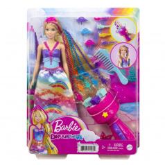 Mattel Barbie PRINCEZNA S BAREVNÝMI VLASY HERNÍ SET