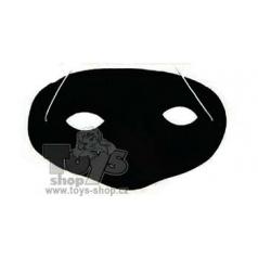 Maska škraboška plast 16cm v sáčku