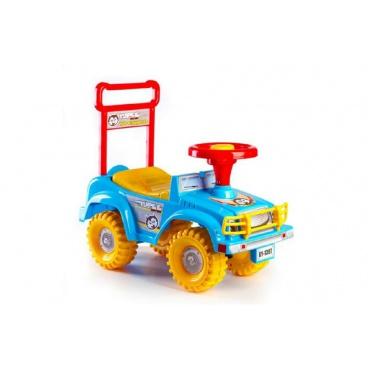 Teddies Odrážedlo auto Yupee modré 53,5x48,3x26cm v krabici od 12 do 35 měsíců