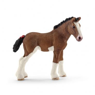 Schleich 13810 figurka kůň - hříbě Clydesdaleské
