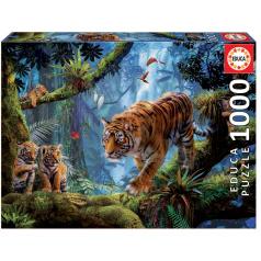 EDUCA Puzzle 1000 dílků - Tygr na stromě