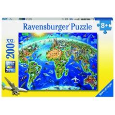 Ravensburger Veľká mapa sveta 200 dielikov