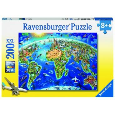 Ravensburger puzzle Velká mapa světa 200 dílků