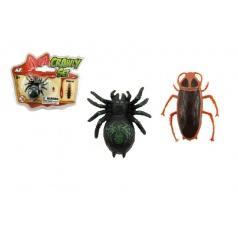Teddies Pavouk/šváb lezoucí po skle plast 4cm asst 2 druhy v blistru