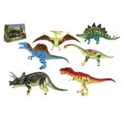 Teddies Dinosaurus hýbající se plast 18cm asst 6 druhů