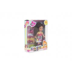 Teddies Panenka kloubová 12cm s doplňky plast v krabičce 12x16x4,5cm