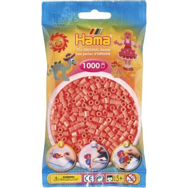 HAMA Pastelově červené korálky v sáčku