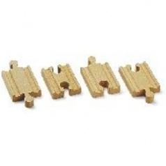 BRIO 33333 Mini koleje rovné, spojky, 54 mm, 4 ks příslušenství k vláčkodráhám