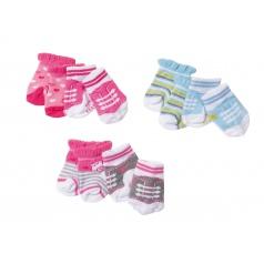Zapf 823576 Baby Born Ponožky (2 páry), 3 druhy