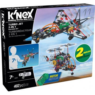 KNEX - Stavebnice letadlo Turbo Jet 2 v 1, 402 dílků