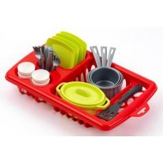 Ecoiffier Velký odkapávač s nádobím 33,5 cm