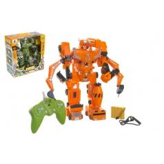 Robot/transformer RC plast 33cm na baterie/USB se zvukem a světlem asst 2 barvy v krabici 35x38x17cm