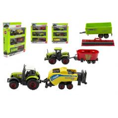 Teddies Sada farma poľnohospodárske stroje 6ks plast / kov asst 4 druhy v krabici 21x27x5,5cm