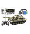 Tank RC plast 27cm 27MHz na baterie+dobíjecí pack se zvukem v krabici 37x17x19cm