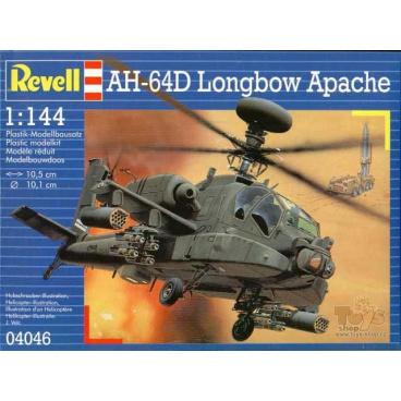Revell Plastic ModelKit vrtulník 04046 - AH-64D Longbow Apache (1:144)