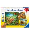 Ravensburger dětské puzzle Země živočichů 3x49d