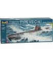 Revell 05100 Plastic ModelKit ponorka - Submarine Type VII C/41 (1:144)