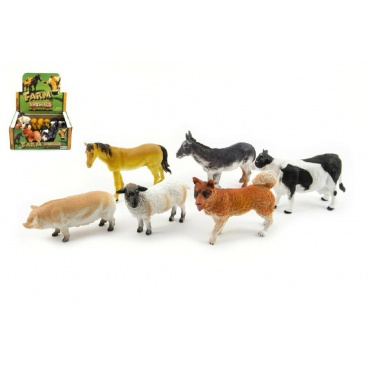 Teddies Zvířátko farma plast 11cm asst různé druhy