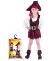 Dětský karnevalový kostým pirátka velikost S