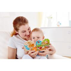 Hape Dřevěná Baby knížka Farma