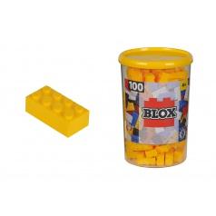 Blox 100 stavebnice Kostičky žluté v boxu
