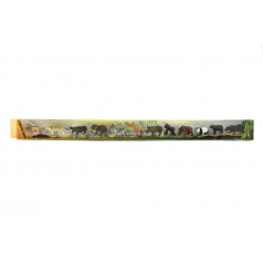 Teddies Zvířátka safari plast 6cm 12ks v tubě 7x78x4cm