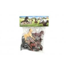 Teddies Kůň plast 10cm 8ks v sáčku