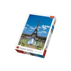 Trefl Puzzle Eiffelova Věž, Paříž 2000 dílků 68x96cm v krabici 27x40x6cm