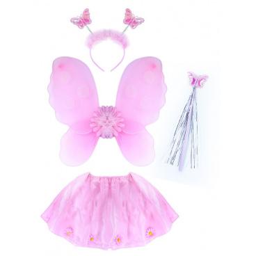 Rappa Dětský kostým Květinka s křídly