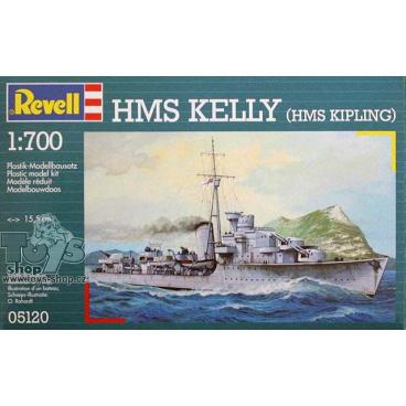 Revell model 05120 loď H.M.S. Kelly 1:700